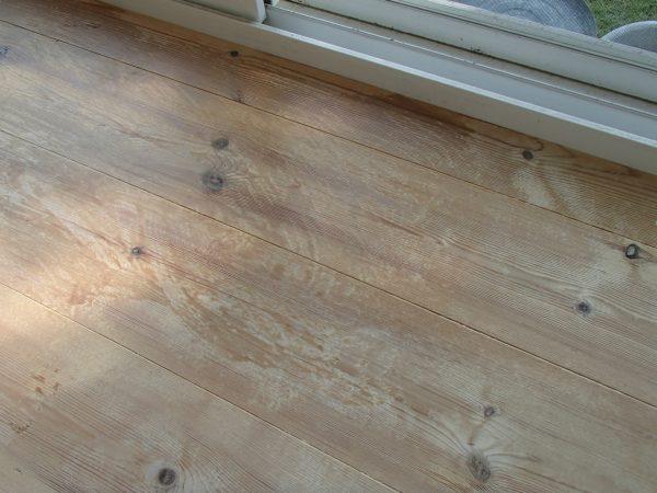 窓際の床の仕上がり