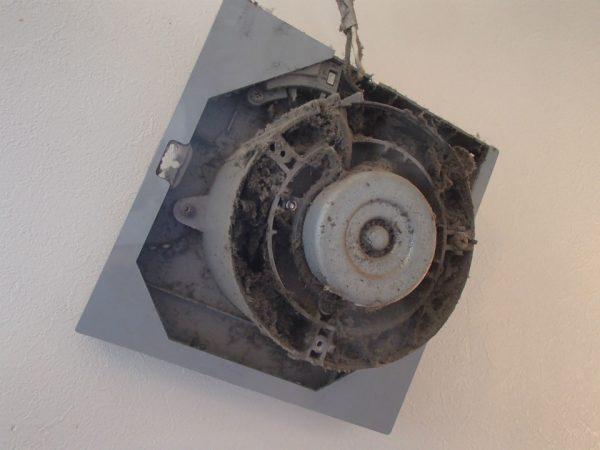 高所設置の換気扇