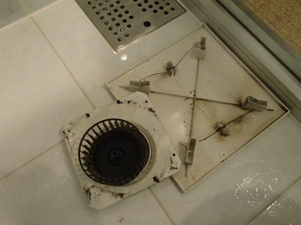 シャワールームの換気扇