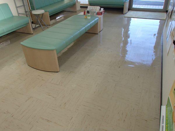 薬局床の定期清掃