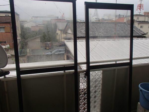 掃き出し窓の洗い