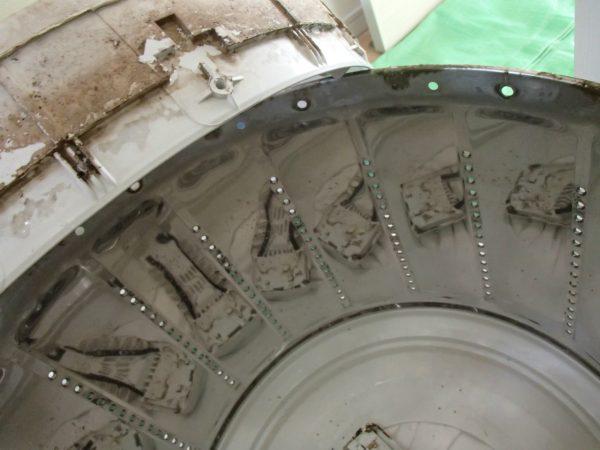 脱水槽とバランスリングの重なり部分