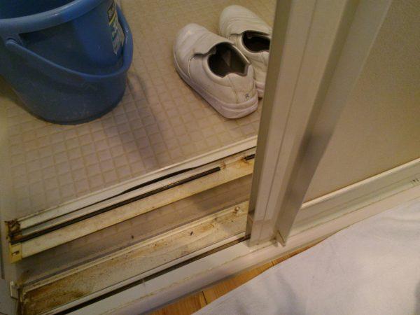 ドアのレール部分