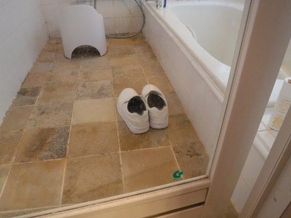 浴室ドアガラス