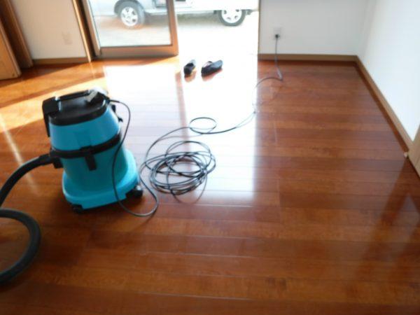 床を洗おうと思ったら