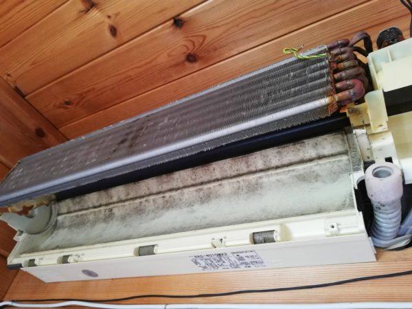 熱交換器と壁側ボデイ