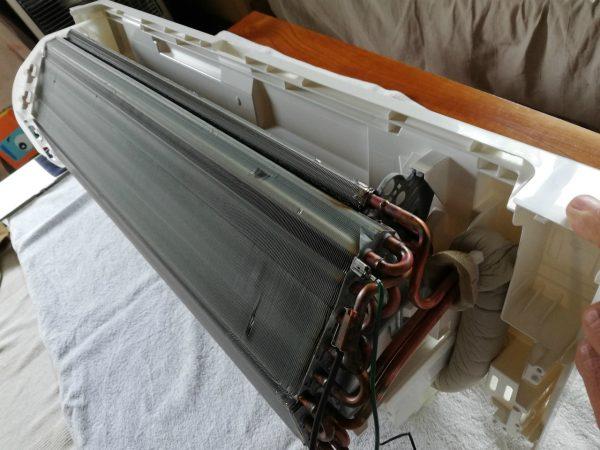 熱交換器とボディを復元