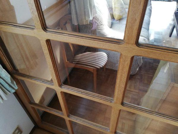 建具細工のガラス扉