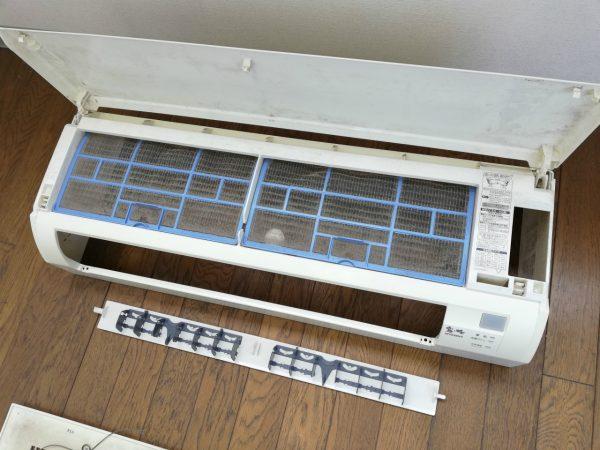 エアコン化粧板とフィルター