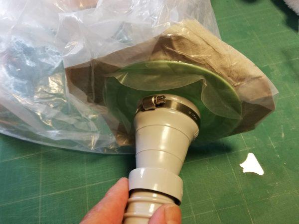 天井エアコン洗浄カバー改造