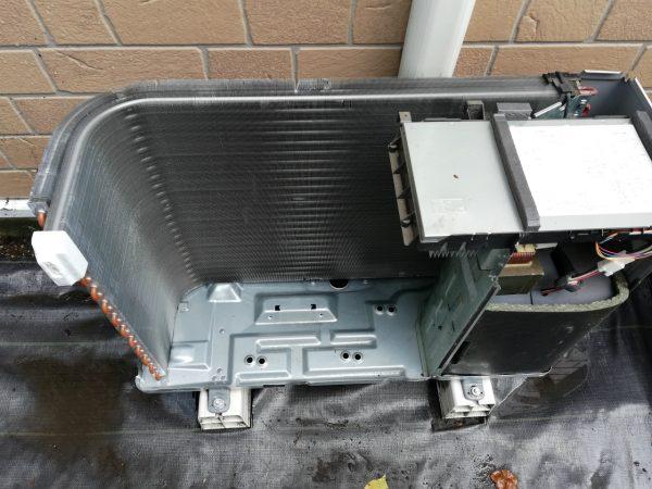 室外機熱交換器洗浄