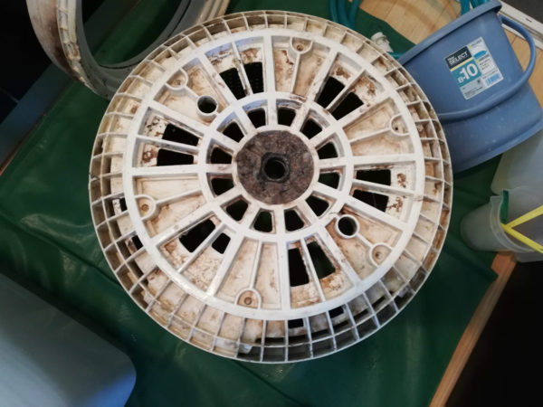 脱水槽底円盤
