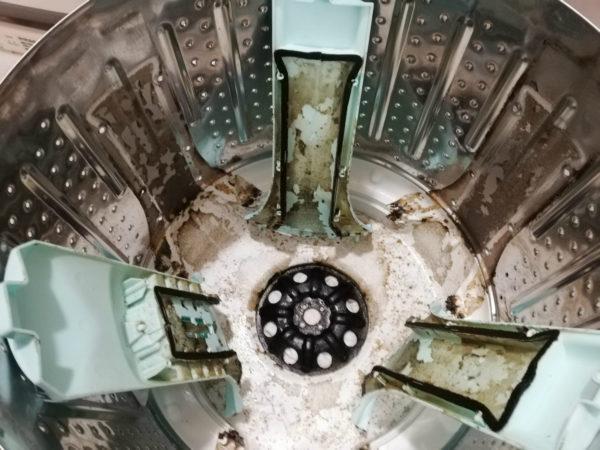 脱水槽の流水経路