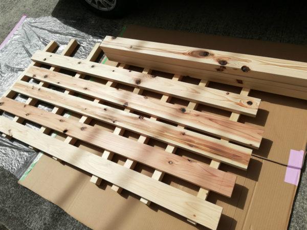 新しい木材